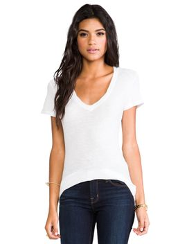 casual-v-neck-tee-with-reverse-binding by james-perse