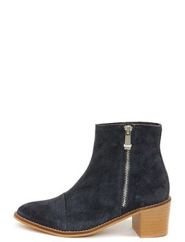 report-jackal-navy-suede-leather-ankle-boots by report