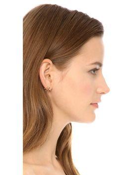 pyramid-fan-stud-earrings by rebecca-minkoff