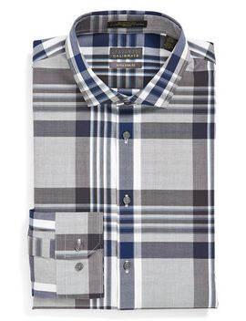 extra-trim-fit-non-iron-stretch-plaid-dress-shirt by calibrate