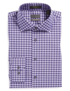 extra-trim-fit-non-iron-check-dress-shirt by calibrate