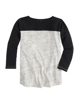 colorblock-football-t-shirt by jcrew