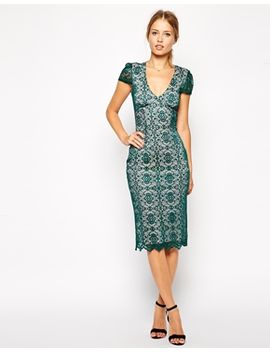 asos-sexy-pencil-dress-in-lace by asos-collection