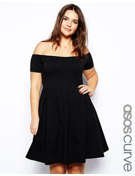 asos-curve-skater-dress-with-bardot-neckline by asos-curve