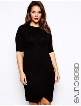 asos-curve-bodycon-dress-with-asymmetric-hem by asos-curve