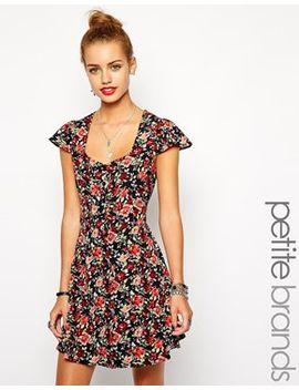 glamorous-petite-tea-dress-in-floral-print by glamorous-petite