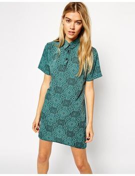 asos-reclaimed-vintage-polo-shift-dress-in-geo-paisley-print by asos-collection