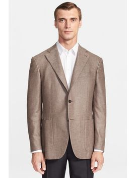 classic-fit-silk-&-cashmere-melange-sportcoat by canali