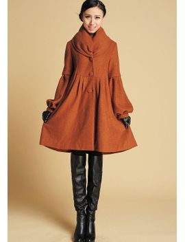 brown-jacket,-wool-coat,-wool-jacket,-winter-coat,-dress-coat,-womens-jackets,-ladies-clothing,-mod-clothing,-brown-coat,-gift-for-her-383 by xiaolizi