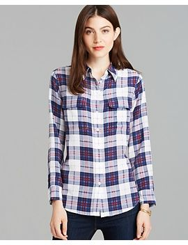 blouse---slim-signature-engineered-audacious-plaid-print by equipment
