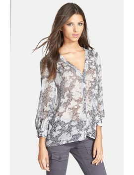 cordia-print-silk-blouse by joie