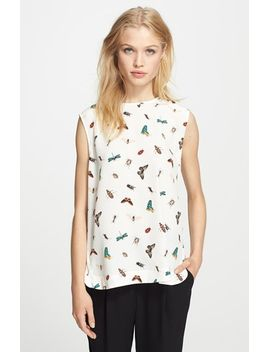 kyle-print-silk-top by equipment