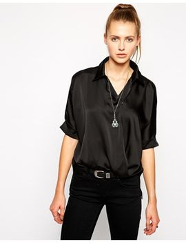 boxy-shirt-in-satin by glamorous