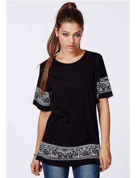 ayla-paisley-trim-t-shirt by missguided