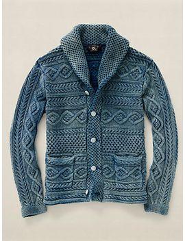 indigo-shawl-collar-cardigan by ralph-lauren