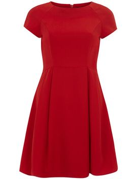 red-crepe-dress by dorothy-perkins