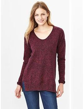 marled-u-neck-sweater by gap