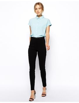 asos-high-waist-belted-trousers-in-skinny-fit by asos-collection