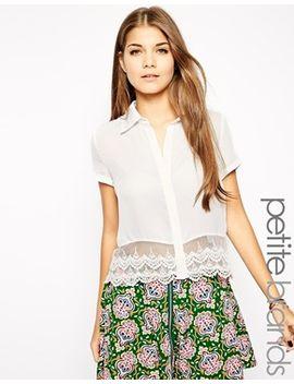 glamorous-petite-lace-hem-blouse by glamorous-petite
