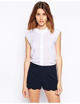 asos-blouse-with-scallop-collar by asos-collection