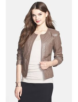 quilted-leather-jacket by halogen®