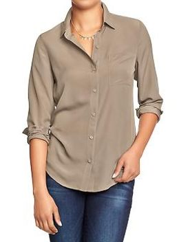 womens-crepe-chiffon-blouses by old-navy