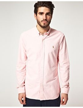 polo-ralph-lauren-oxford-shirt-in-slim-fit-pink by polo-ralph-lauren