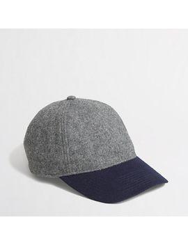 factory-colorblock-wool-baseball-cap by jcrew