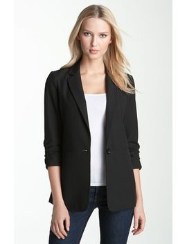ruched-sleeve-boyfriend-jacket by michael-michael-kors