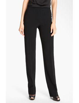 diana-straight-leg-crepe-marocain-pants by st-john-collection