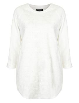 check-jacquard-sweat-tunic by topshop