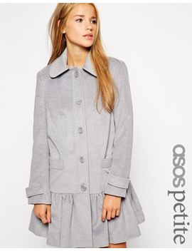 asos-petite-exclusive-peplum-hem-dolly-coat by asos-petite