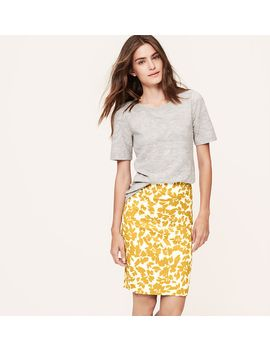 petite-fresh-bloom-pencil-skirt by loft