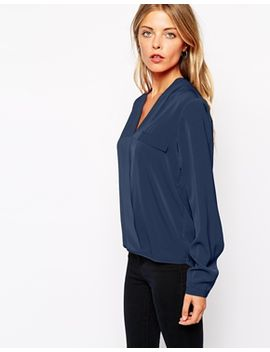 vila-wrap-front-shirt by vila