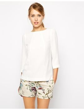 oasis-woven-boat-neck-top by oasis