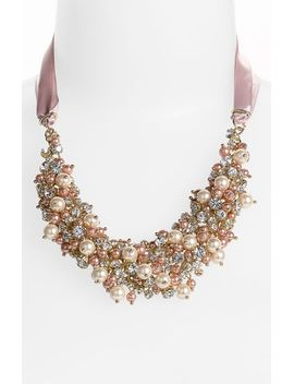 melaney-ribbon-&-cluster-bib-necklace by nina