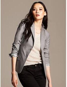 gray-lightweight-wool-blazer by banana-repbulic