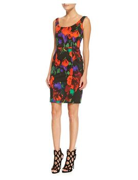 sophia-floral-print-sleeveless-sheath-dress by milly