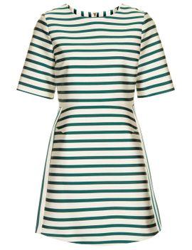 satin-stripe-a-line-dress by topshop