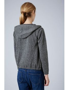long-sleeved-neppy-hoodie by topshop