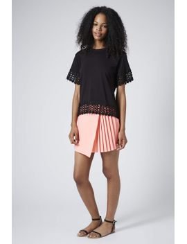 lace-panel-tee by topshop