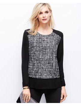 tweedy-georgette-blouse by ann-taylor