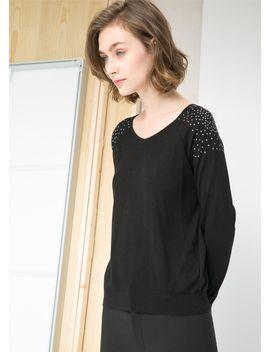 rhinestone-shoulder-sweater by mango