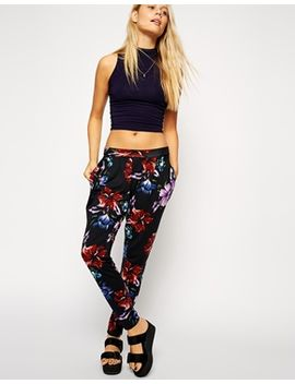 asos-peg-pants-in-floral-print by asos-collection