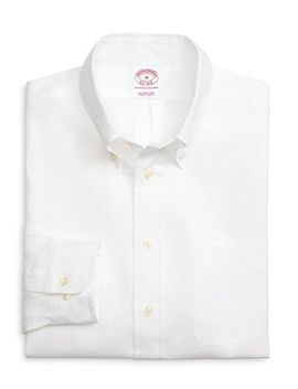 madison-fit-solid-linen-sport-shirt by brooks-brothers