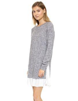 clu-too-pleated-sweater-dress by clu