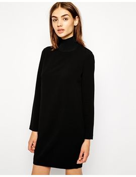 whistles-mia-dress-with-high-neck by whistles