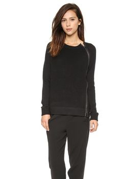 leather-trim-textured-sweater by vince