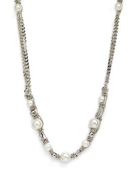 faux-pearl-&-chain-long-necklace by givenchy