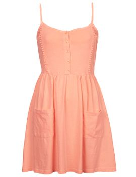 lace-trim-strappy-sundress by topshop